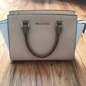 Michael Kors Tri Color Leather Bag